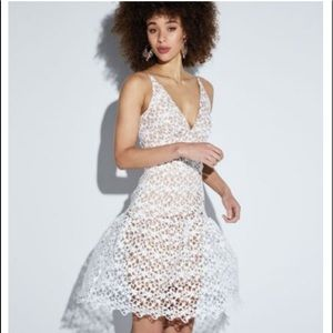 Dress the population cocktail dress white lace